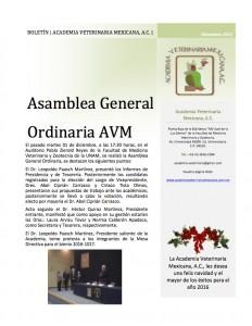 GACETA ACADEMIA VETERINARIA MEXICANA, A.C. DIC 2015