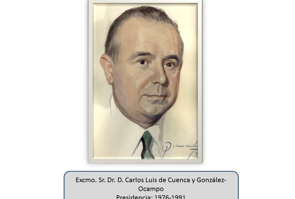 Excmo. Sr. Dr. D. Carlos Luis de Cuenca y González-Ocampo