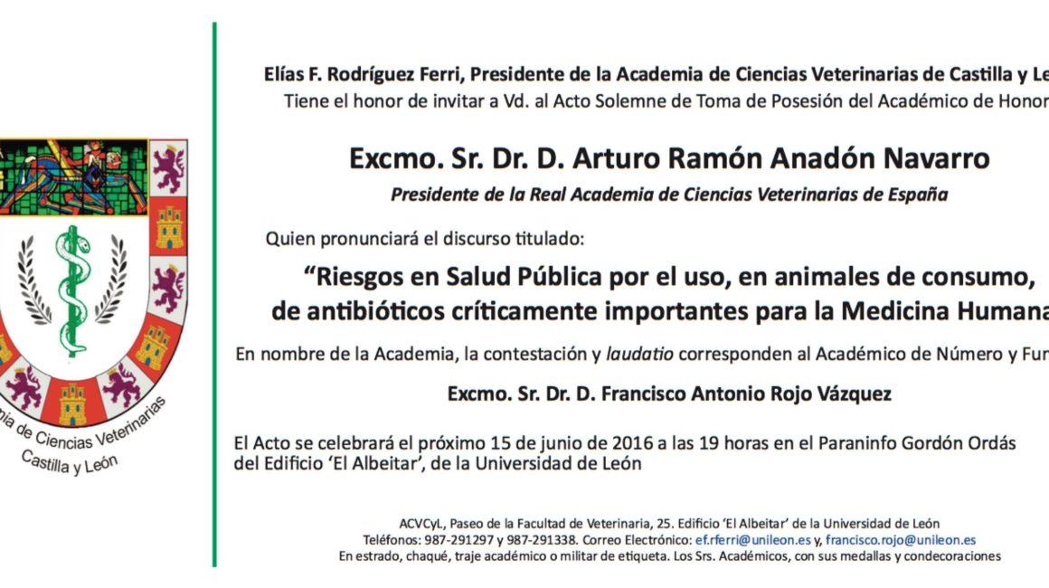 El Excimo. Sr. Presidente de la RACVE será investido como Académico de Honor en la ACCVV de Castilla y León