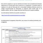 II Conferencia de Academias de Ciencias Veterinarias-2017