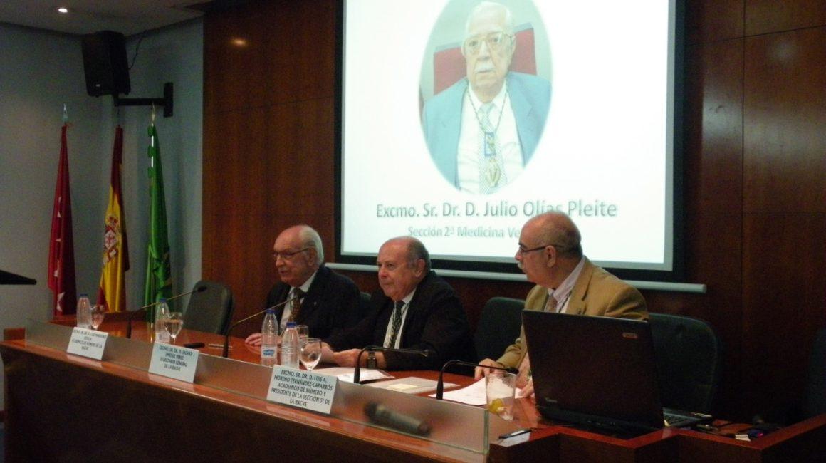 Sesión necrológica in memoriam del Dr. D. Julio Olías Pleite