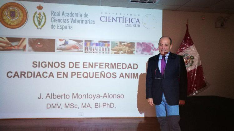 El Dr. Alberto Montoya, Académico de Número de la RACVE, interviene en la Universidad Científica del Sur de Lima