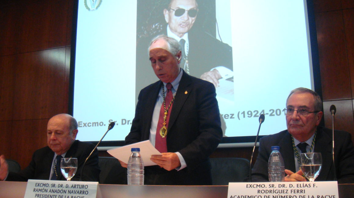 La RACVE celebra sesión in memoriam del  Excmo. Sr. Dr. D. Félix Pérez y Pérez