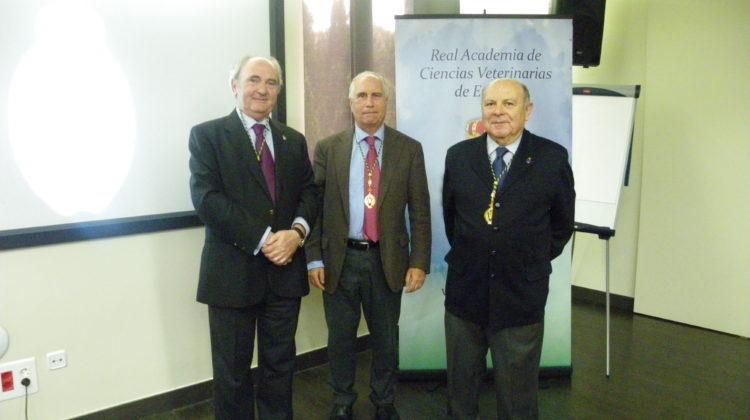 El Dr. Miguel Ángel Aparicio Tovar interviene en la sede de la Real Academia de Ciencias Veterinarias de España