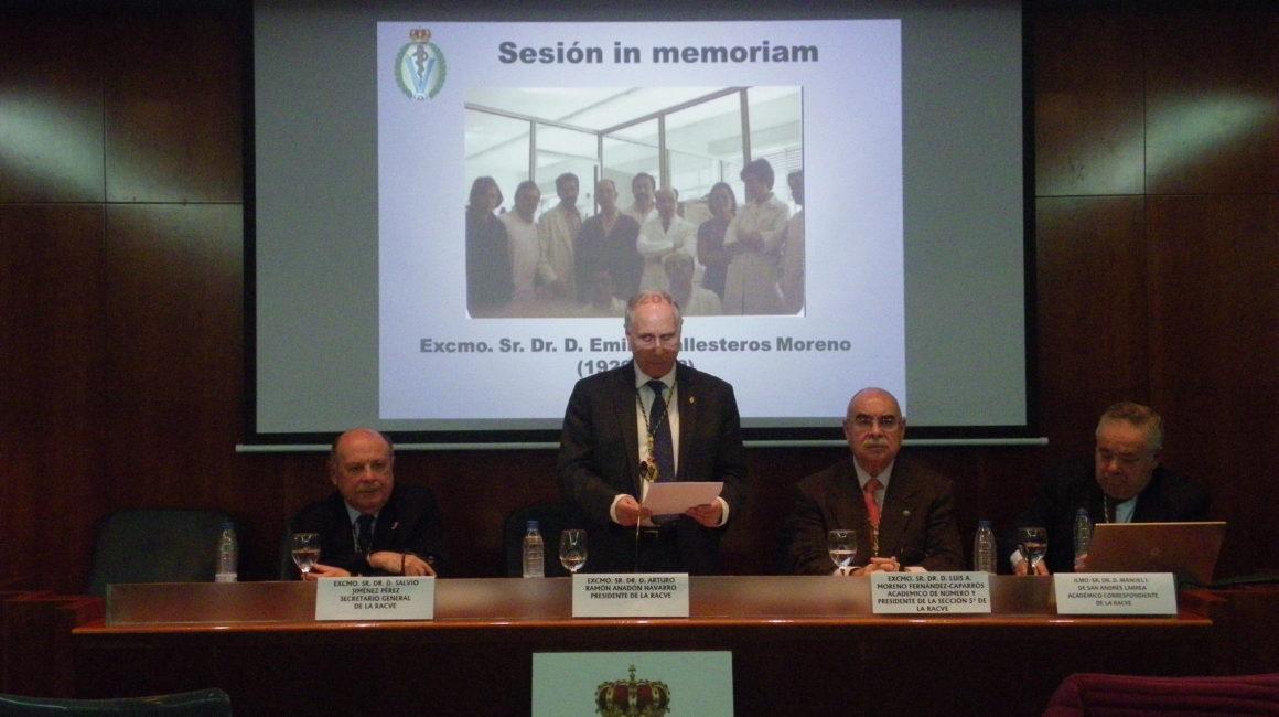 Sesión IN MEMORIAM DEL Excmo. Sr. Dr. D. EMILIO BALLESTEROS MORENO (1929-2018)