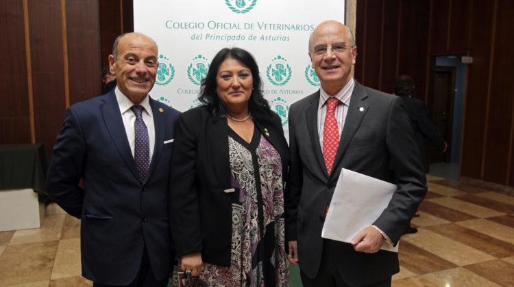 El Excmo. Sr. Prof. Dr. D. Alberto Montoya-Alonso, Académico de Número de la RACVE, distinguido con la medalla de oro del Ilmo. Colegio Oficial de Veterinarios del Principado de Asturias