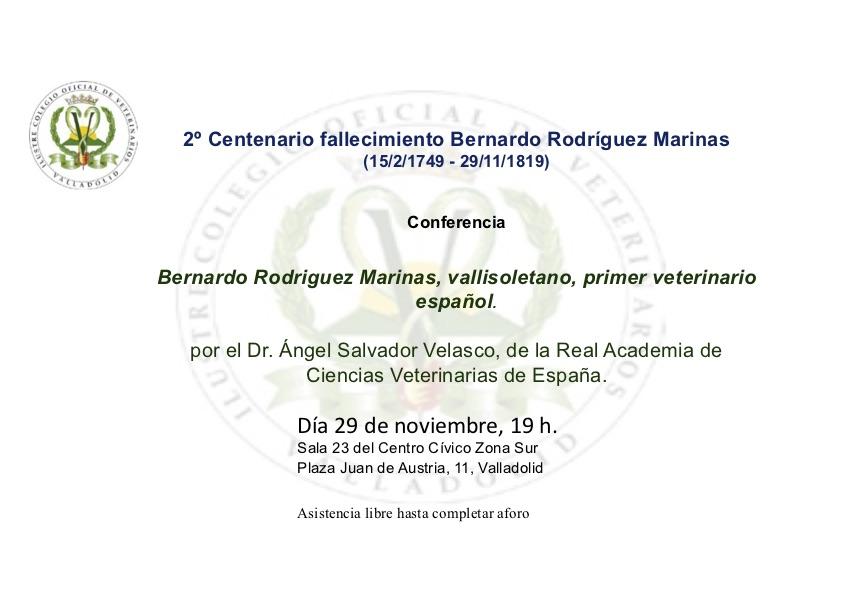 El Dr. D. Ángel Salvador Velasco, Académico Correspondiente de la RACVE pronunciará una conferencia en el ICOV de Valladolid